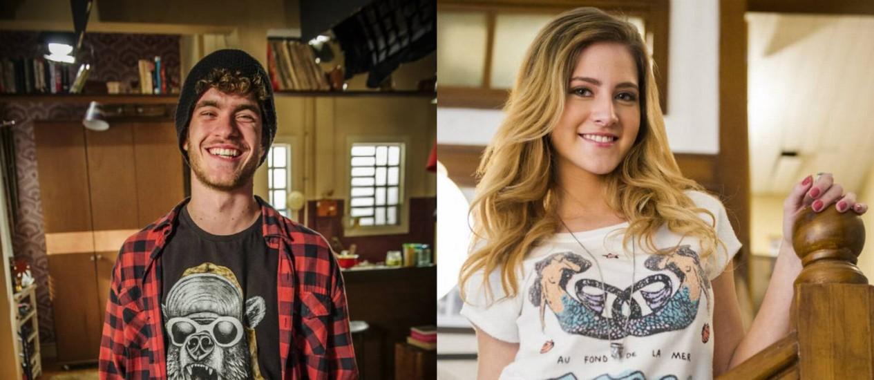 Sidney (Vitor Thiré) e Sofia (Hanna Romanazzi) ficam juntos em 'Malhação' Foto: Reprodução