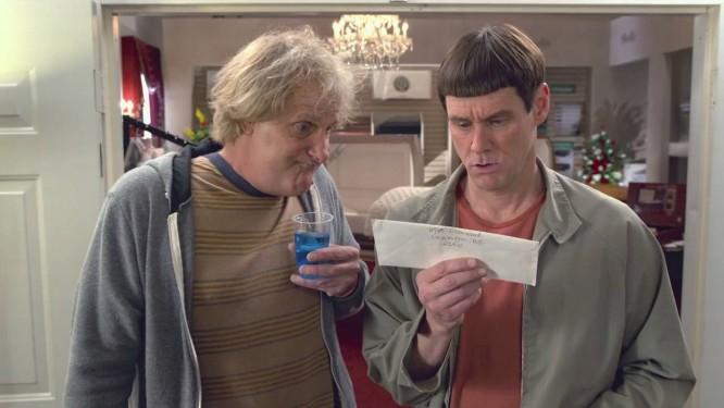Jeff Daniels e Jim Carrey em 'Debi & Lóide 2' Foto: REPRODUÇÃO
