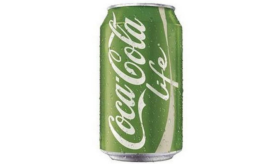 Verde, não vermelha: Coca-cola Life, só no exterior Foto: / Reprodução