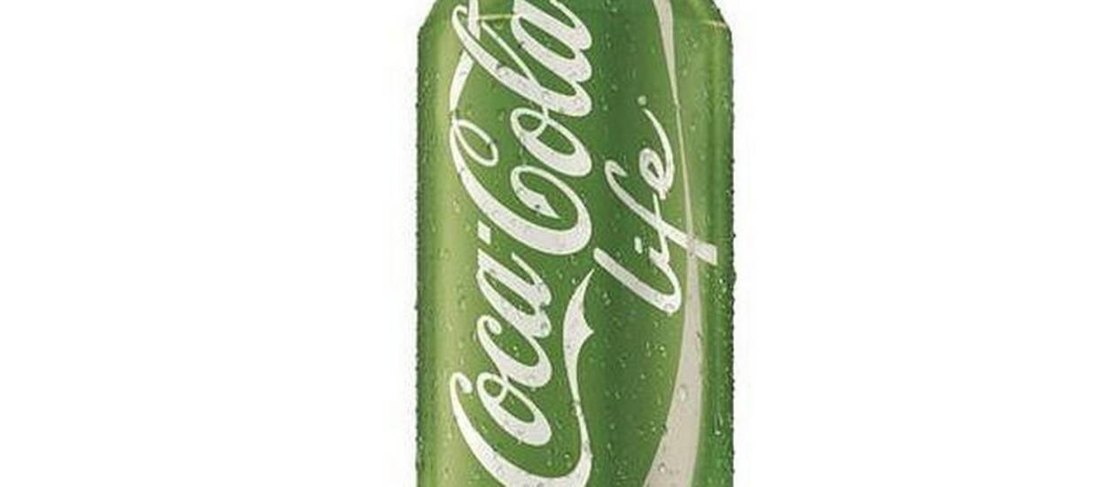 Verde, não vermelha: Coca-cola Life, só no exterior Foto: Reprodução