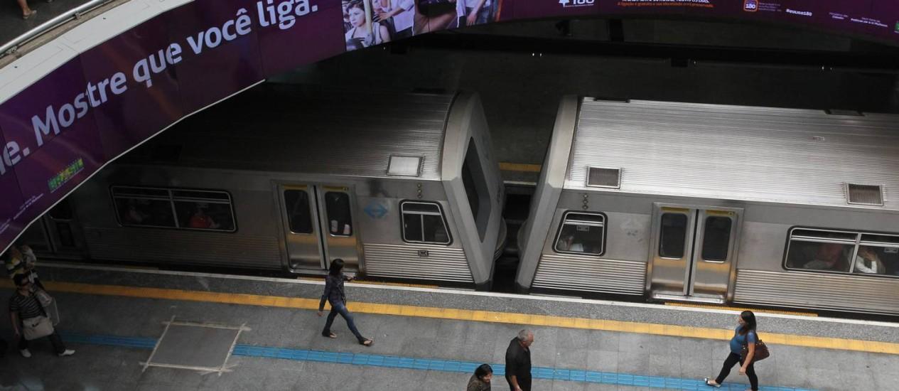 Estacão da Sé, em São Paulo, parada no último dia 9 devido a paralisação dos metroviários: eles decidiram suspender a paralisação marcada para quinta-feira Foto: Marcos Alves / Arquivo/Agência O Globo