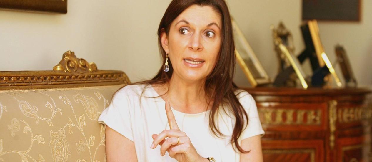 Maria Elizabeth Rocha, quando assumiu como ministra do STM, em 2007: ministra foi nomeada como presidente Foto: Sérgio Marques/Arquivo / Agência O Globo