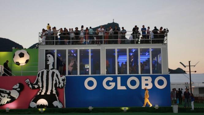 A Casa O GLOBO, projetada pelo designer Gringo Cardia, celebra o futebol em todos os detalhes Foto: Pedro Teixeira / Agência O Globo