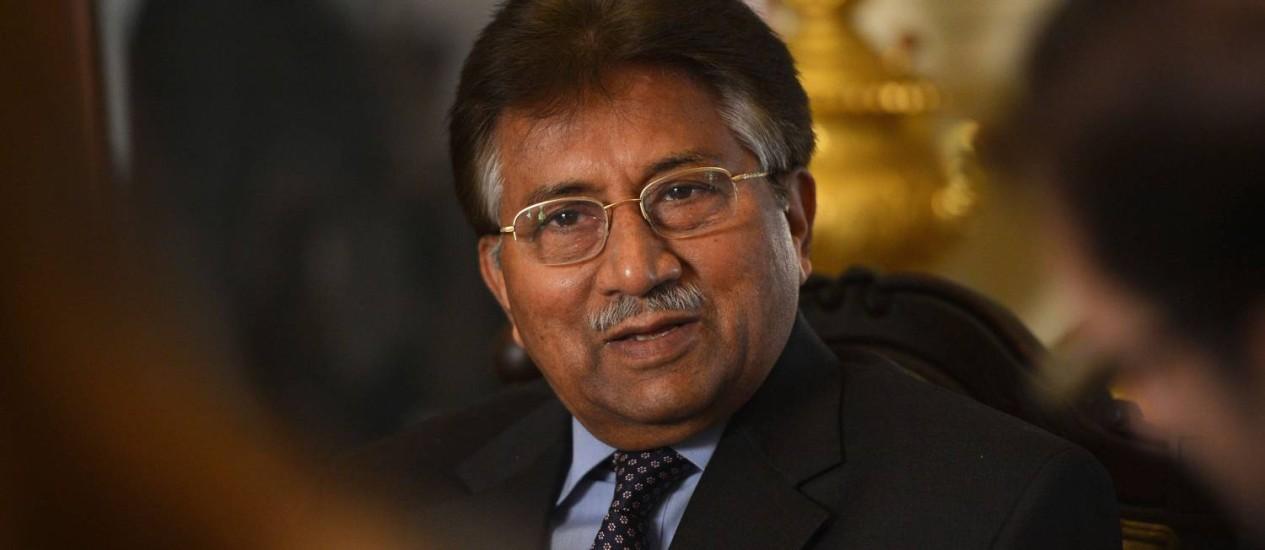 O ex-presidente do Paquistão Pervez Musharraf em dezembro de 2013 Foto: FAROOQ NAEEM / AFP