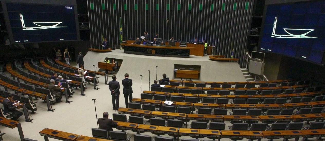 Na quarta-feira a Câmara dos Deputados já tinha apresentado pouca movimentação Foto: André Coelho / Agência O Globo