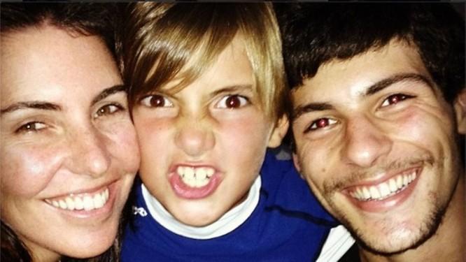 Glenda e os filhos Eduardo e Gabriel Foto: reprodução do Instagram