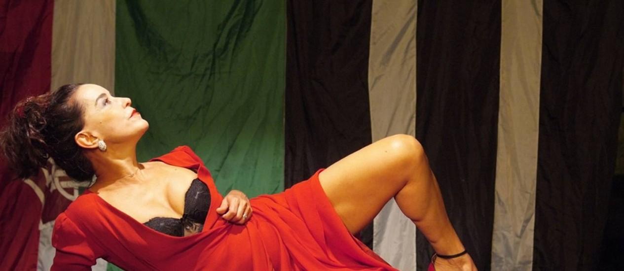 """""""A falecida"""". Lucélia Santos em cena como a protagonista Zulmira Foto: Divulgação / Divulgação/Lenise Pinheiro"""