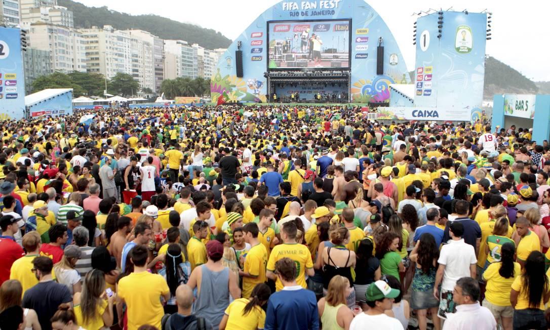 Espaço na areia de Copacabana possui 42 mil metros quadrados Foto: Marcelo Piu / Agência O Globo