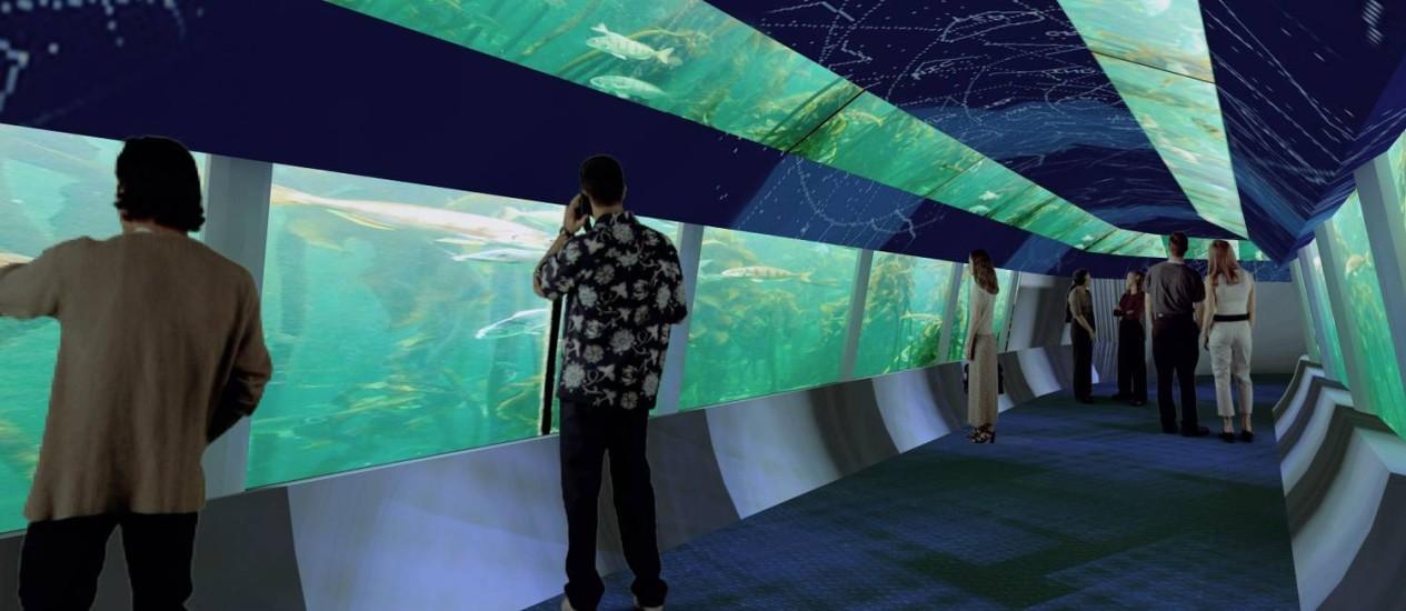 Imagem do projeto do AquaRio Foto: DIVULGAÇÃO / DIVULGAÇÃO