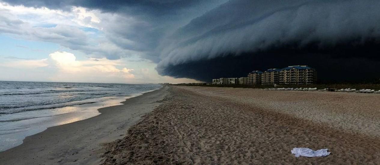 'Tempestade Próxima', foto vencedora do 1º lugar do 2014 IPPAWARDS na categoria Natureza Foto: Divulgação / Felicia Pandola
