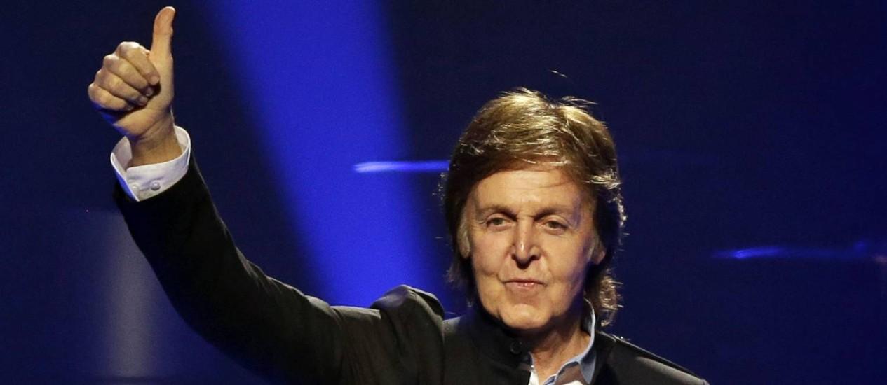 Paul McCartney no primeiro show da turnê 'Out there', em outubro passado, na Flórida. Foto: John Raoux / AP
