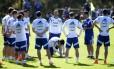 Seleção da Argentina durante o treino desta sexta-feira