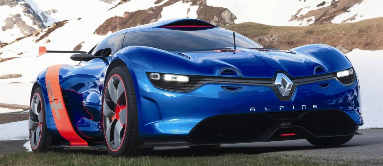 O Renault Alpine Concept foi mostrado ainda em 2012, no GP de Mônaco da F1 Foto: Divulgação