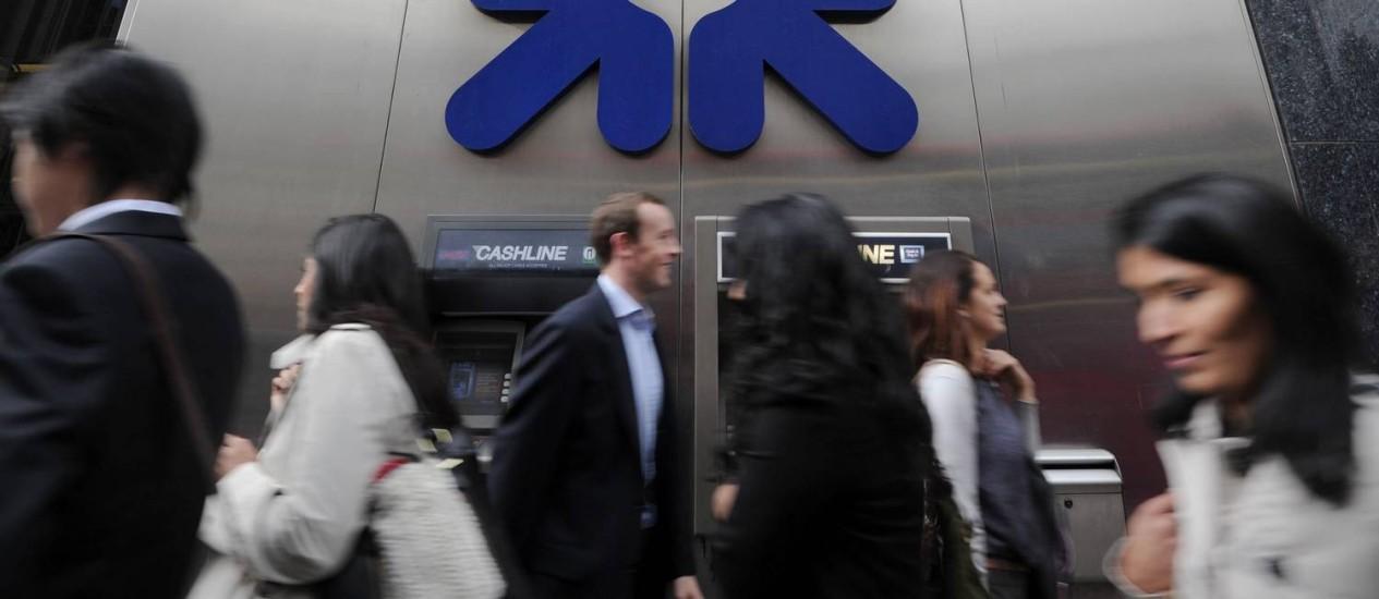 Filial do Royal Bank of Scotland (RBS) em Londres Foto: Carl Court/AFP/7-11-2011