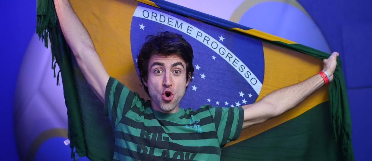 O ator Rodrigo Pandolfo, de 'Geração Brasil', ficou impressionado com a estrutura e organização da Casa O GLOBO Foto: Marco Sobral