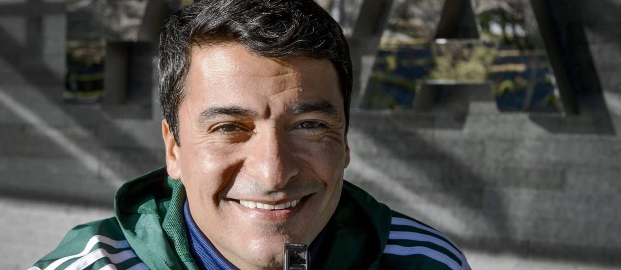 Sandro Meira Ricci em um seminário da Fifa em abril deste ano Foto: Fabrice Coffrini/AFP