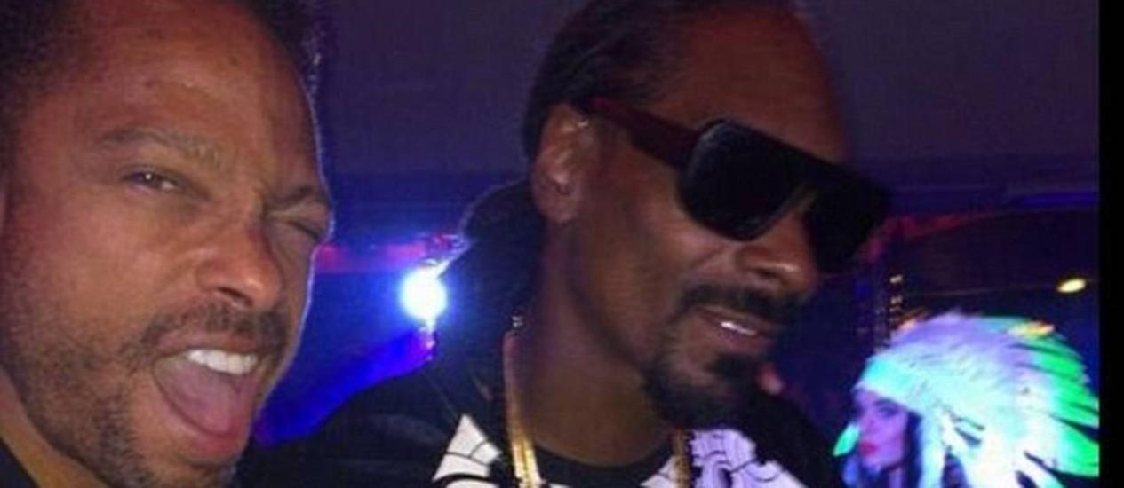 Gary Dourdan com Snoop Dog Foto: © Gary Dourdan/Twitter