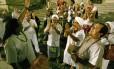 Em maio, representantes de umbanda e candomblé fizeram um ato em frente à Alerj para protestar contra postura de juiz