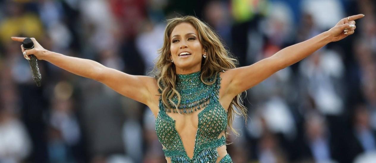 Jennifer Lopez levantou o público no Itaquerão Foto: Frank Augstein / AP