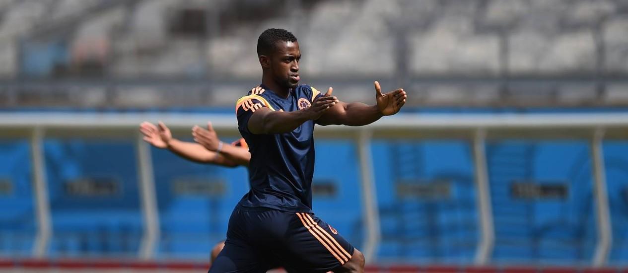 O atacante Jackson Martinez, do Porto, é uma das apostas ofensivas da Colômbia Foto: Eitan Abramovich/AFP