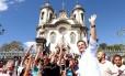 Aécio Neves em Minas Gerais: senador oficializa neste sábado sua candidatura à Presidência