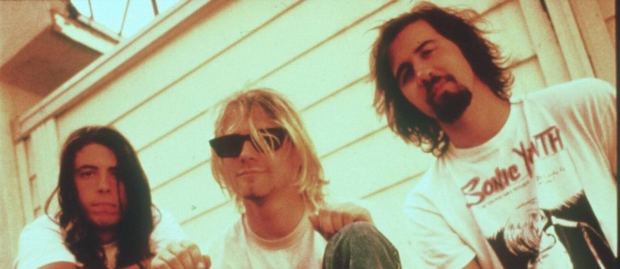 Em 1992, grupo estava no auge após o lançamento do álbum 'Nevermind' Foto: Divulgação