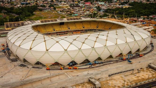 Visão aérea da Arena Amazônia Foto: Jose Zamith/AP