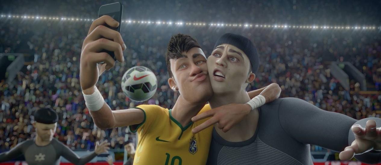 """Com fair play. """"O último jogo"""", da Nike: campanha publicitária com inspiração no Mundial, mas dentro das regras Foto: Reprodução / Reprodução"""