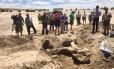Fotógrafos registram escavações de fóssil de mastodonte no Novo México