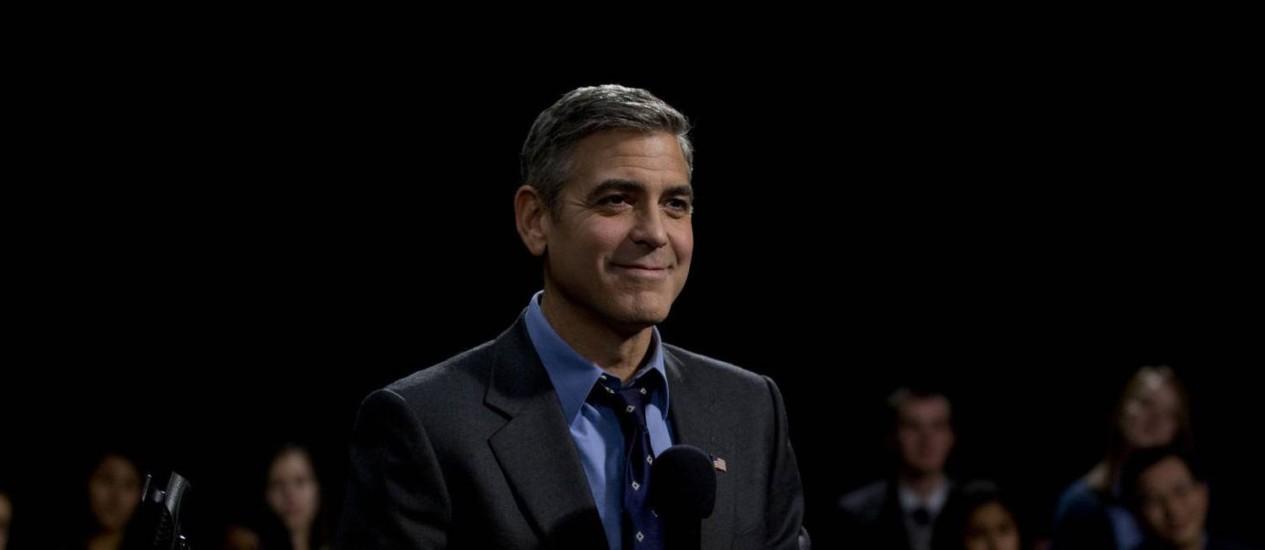"""Em 2011, Clooney interpretou um candidato à presidência americana no filme """"Tudo pelo Poder"""" Foto: Agência O Globo"""