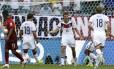 Thomas Mueller (13) comemora seu gol de penalti contra Portugal