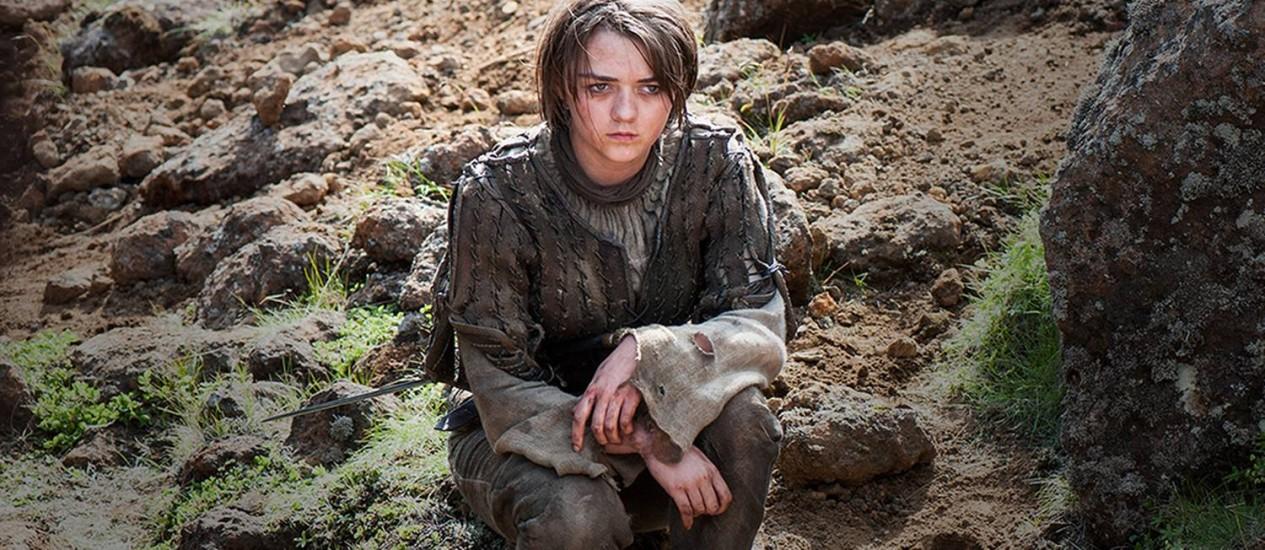 Arya, personagem de Maisie Williams, em 'Game of thrones' Foto: Divulgação