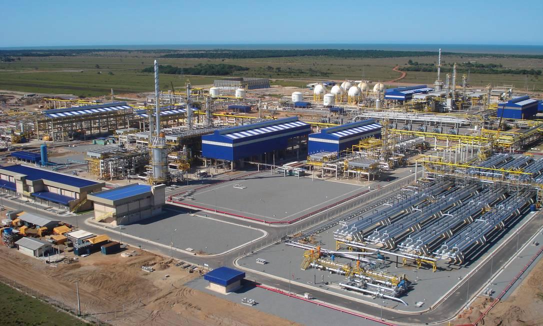 Unidade de processamento de gás natural da Petrobras, em Linhares, no Espírito Santo: com indefinição sobre preço e sobre volume de gás que será destinado ao mercado, setor privado não vê lucratividade Foto: / Divulgação
