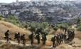 Soldados israelenses em uma operação na cidade de Hebron