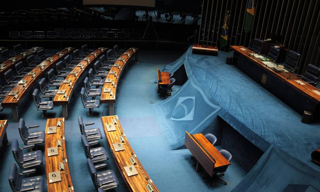 Congresso vazio em dia de jogo do Brasil na Copa - Jornal O Globo
