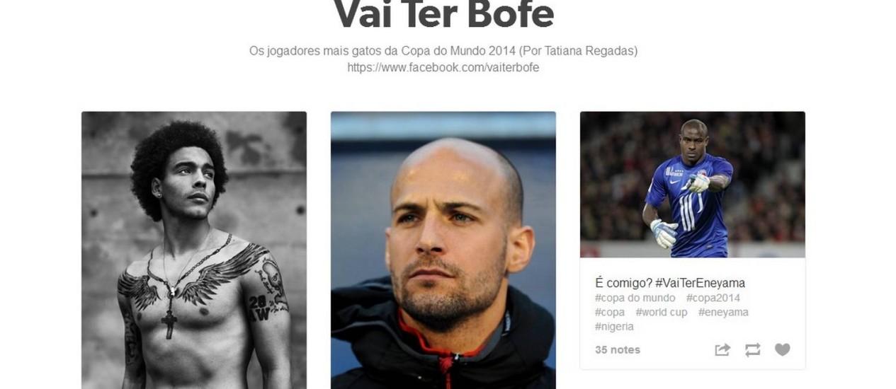 Página 'Vai ter bofe' reúne os jogadores mais gatos da Copa 2014 Foto: Reprodução