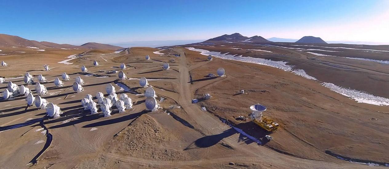 Observatório Alma, no Atacama, é o maior complexo astronômico do mundo Foto: ESO