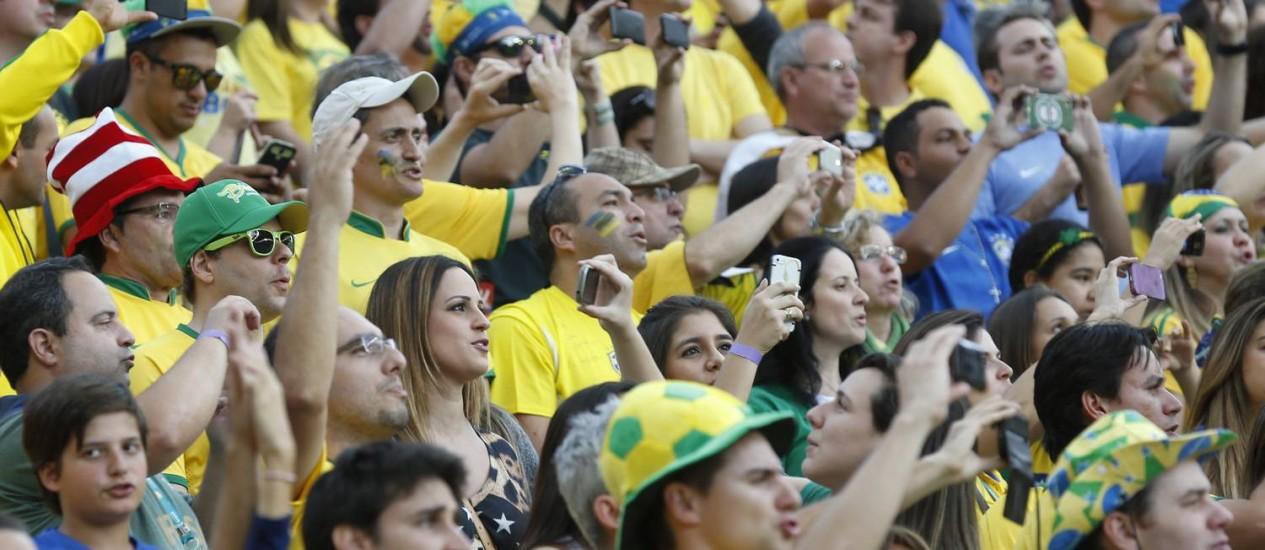 Público no jogo de abertura da Copa entre Brasil x Croácia, na Arenta Itaquera Foto: Alexandre Cassiano / Agência O Globo