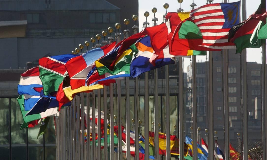 Bandeiras no prédio da ONU, em Nova York Foto: / UN Photo/Joao Araujo Pinto
