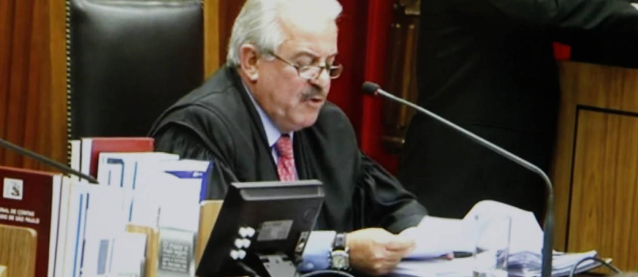 Ministério Público de São Paulo ingressou com ação de improbidade administrativa contra Robson Marinho, conselheiro do TCE-SP Foto: Reprodução/TV Globo / Arquivo