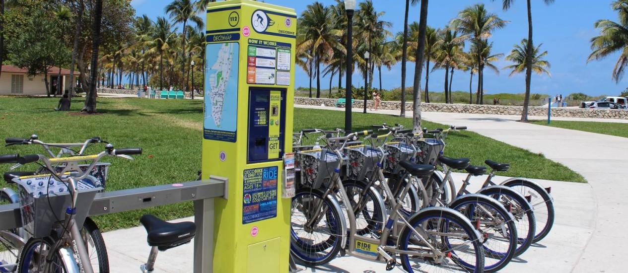 Em Miami, as bikes do Art Déco estarão em breve circulando no Design District e em Wynwood Foto: Foto de Fernanda Dutra