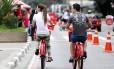 A ciclofaixa da Avenida Paulista funciona somente aos domingos
