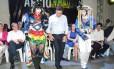 Aécio Neves em evento em Jaboatão dos Guararapes, região metropolitana de Recife: críticas a gestão petista