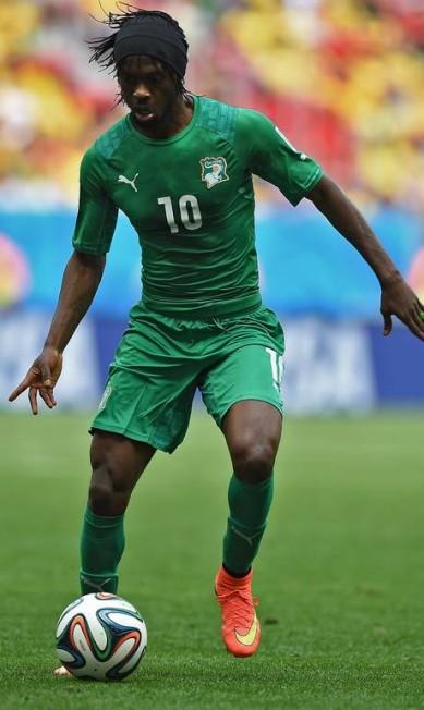 Outro com dois gols da Costa do Marfim, que já se despediu: Gervinho EITAN ABRAMOVICH / AFP