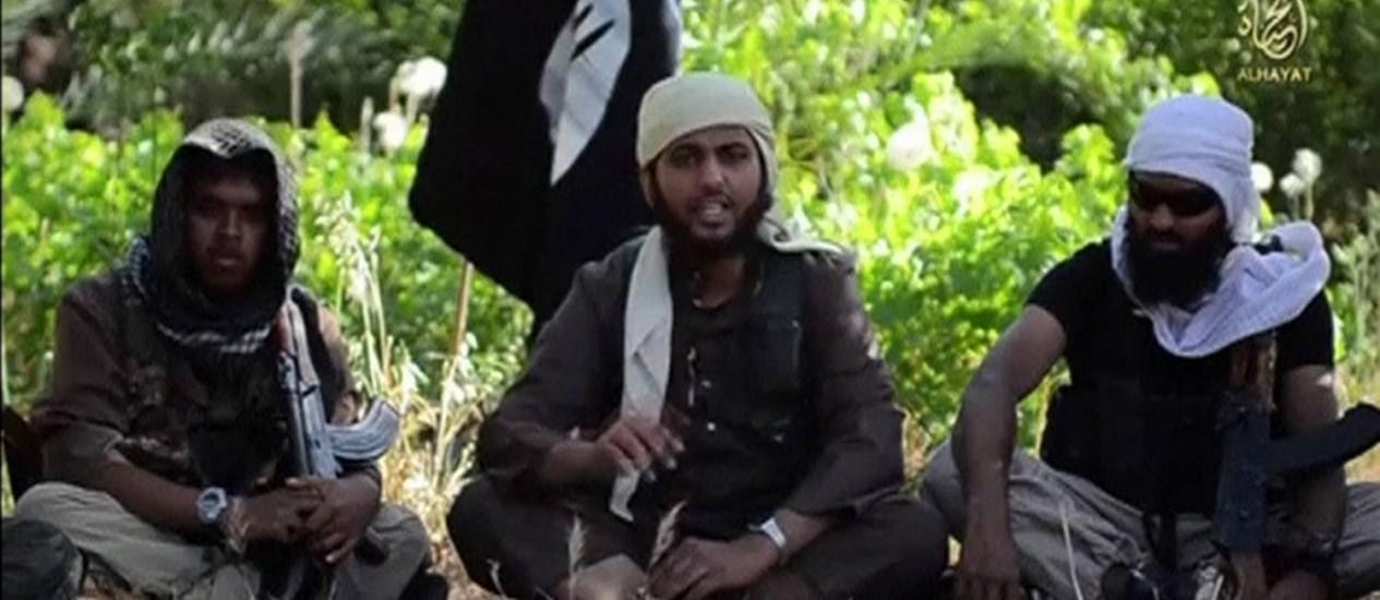 Ocidentais falam sobre razões para aderir ao grupo Isis em vídeo Foto: REUTERS TV / REUTERS