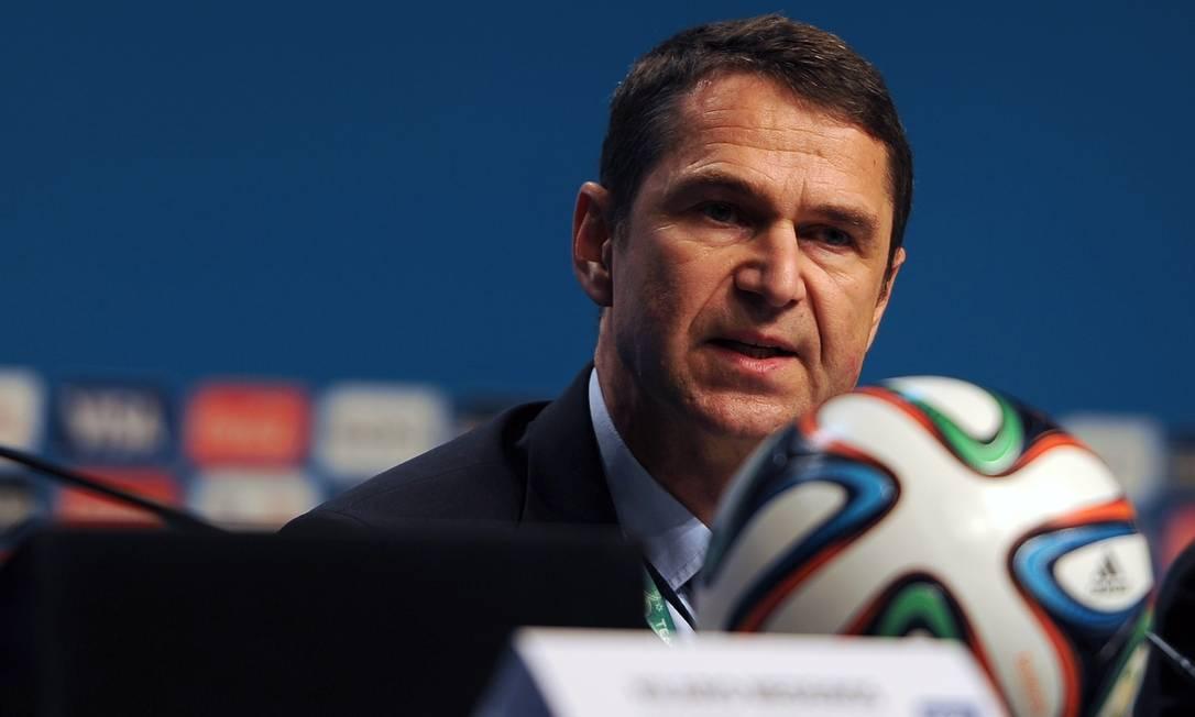 Ralf Mutschke, diretor de segurança da Fifa Foto: / AFP