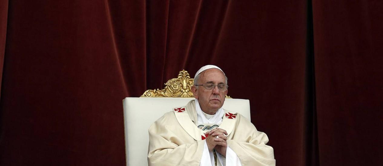 Líder da Igreja Católica condenou legalização de qualquer tipo de droga Foto: Gregorio Borgia / Gregorio Borgia / AP