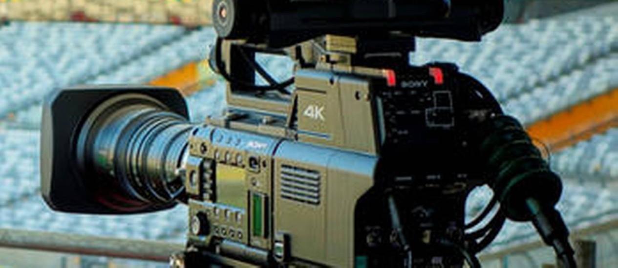 Uma das câmeras 4k que vão captar os três últimos jogos no Maracanã Foto: Divulgação