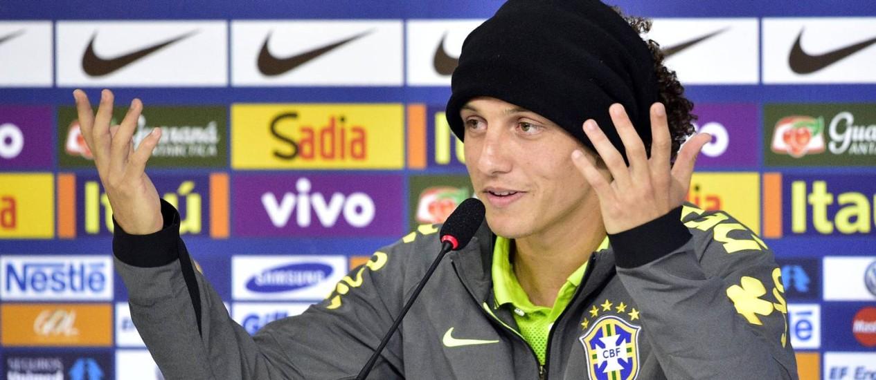 David Luiz: 'O primeiro defensor do nosso time é o Fred. Não é só o David e o Thiago' Foto: Gaspar Nóbrega/VIPCOMM