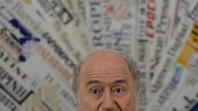 """O presidente da Fifa, Joseph Blatter, em 2013: """"A Fifa devia promover liberdade de expressão, igualdade, lutar contra discriminação. Não o faz. Luta apenas pelo seu lucro"""", diz Aguilar Foto: AFP/22-11-2013"""